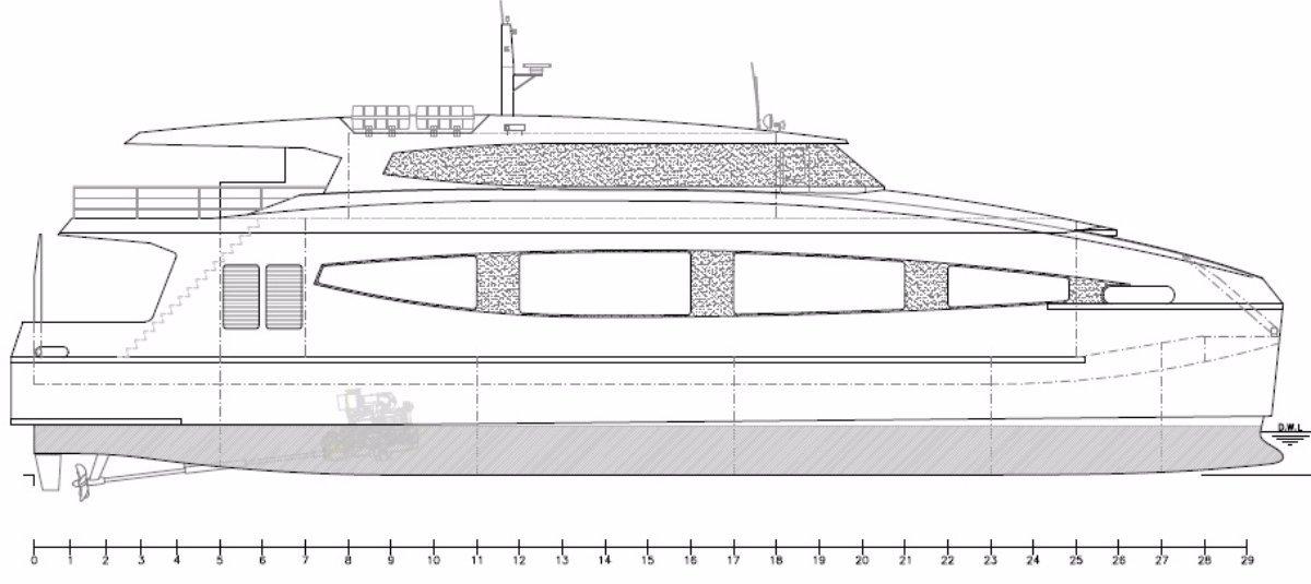 35m Coastal Ropax Ferry