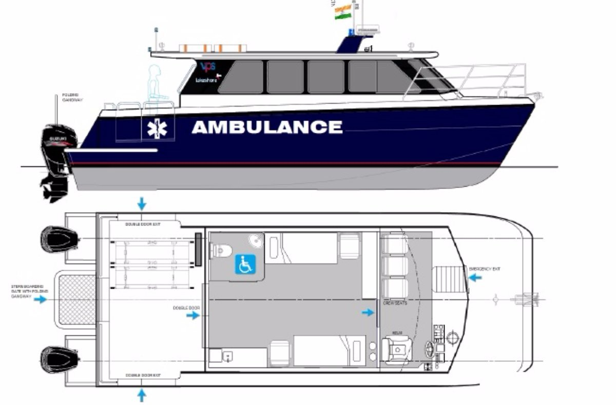 10m Ambulance Boat - OBM Version