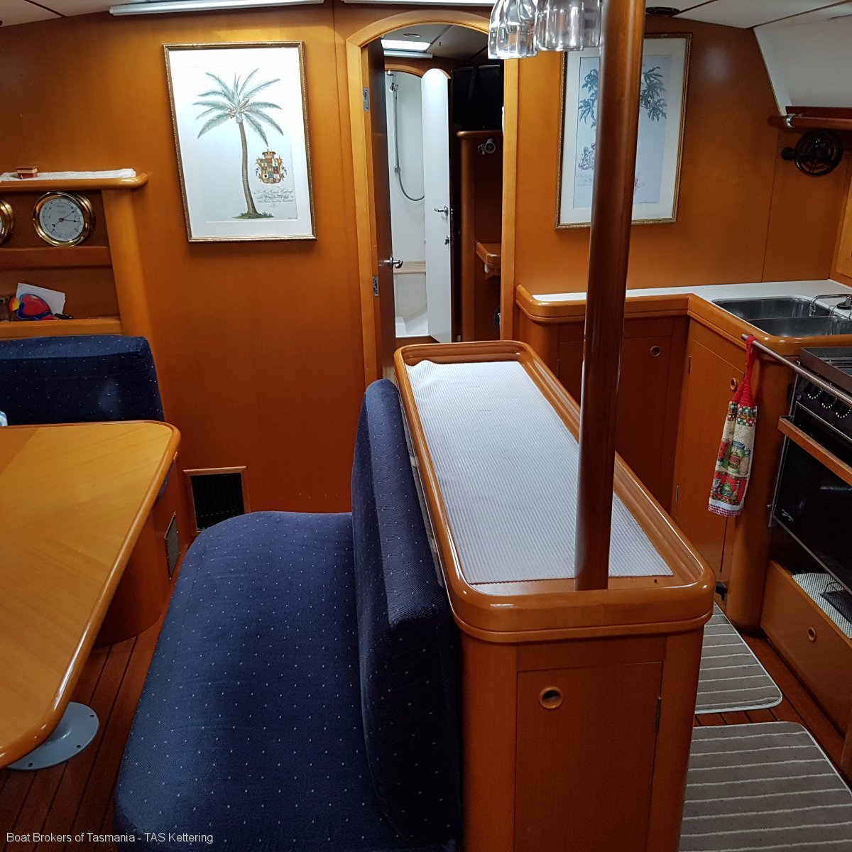 Cumulus 1 Beneteau 50.3 cabins and 3 heads layout. Boat Brokers of Tasmania