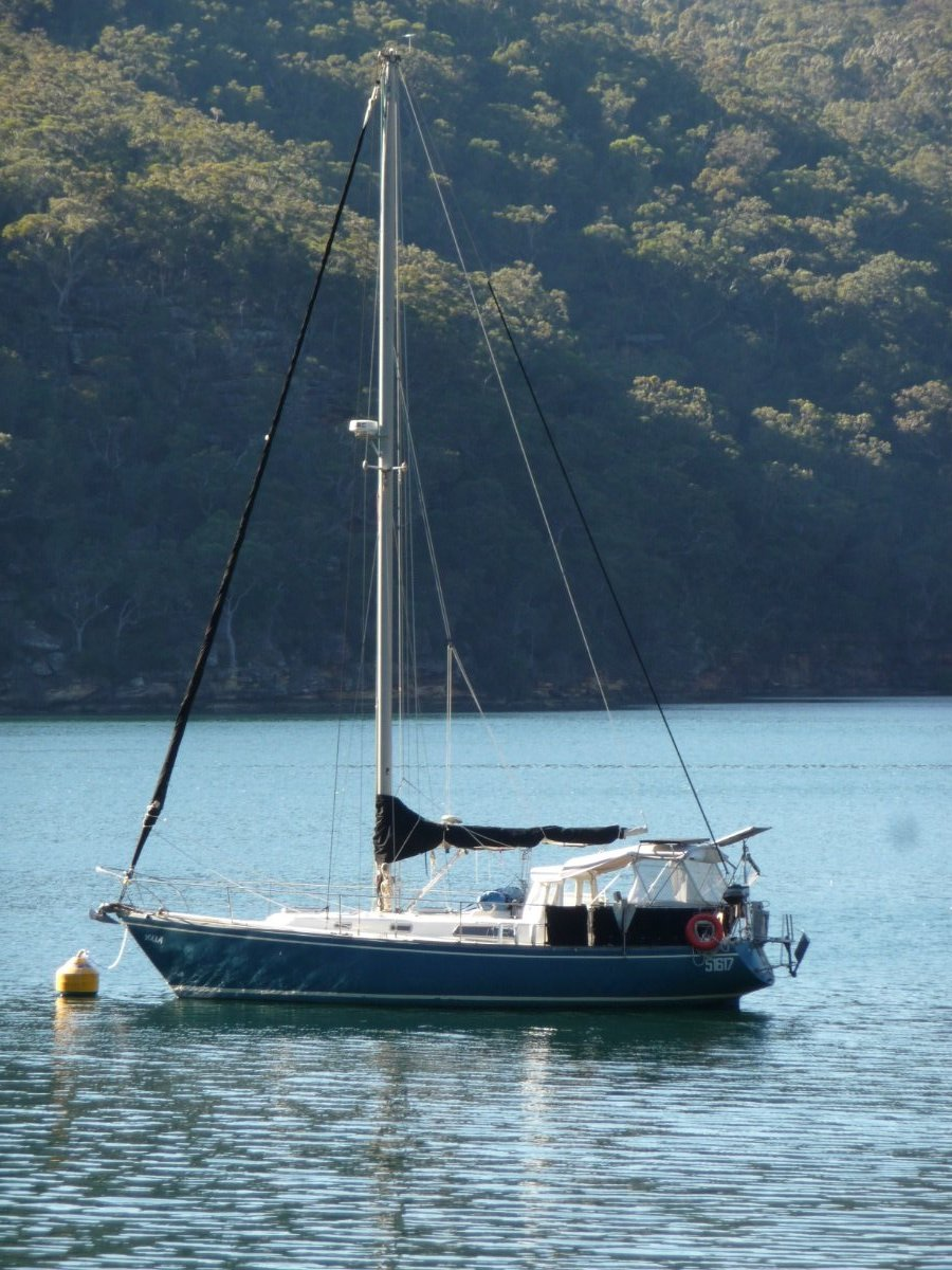 Pearson 36 Masthead Sloop COMFORTABLE, EASY TO SAIL AND CRUISE:At rest in Pittwater
