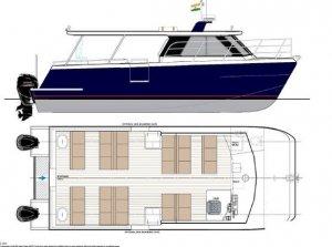 10 Meter 30 Passenger Catamaran OBM