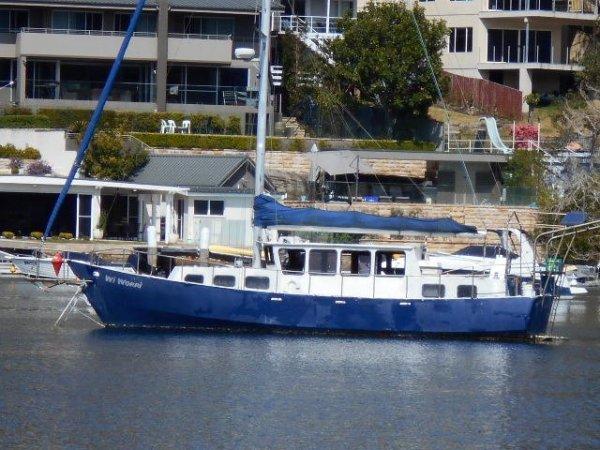 Bollard 38 Motorsailer Needs work looks like ex nsw charter vessel