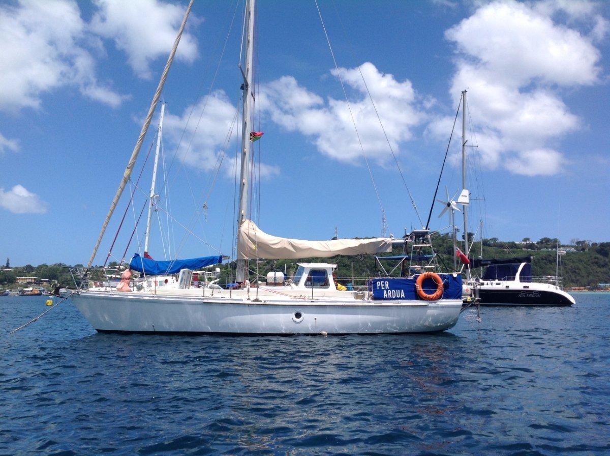 Mummery 40 Offshore cruising yacht.:Per Ardua