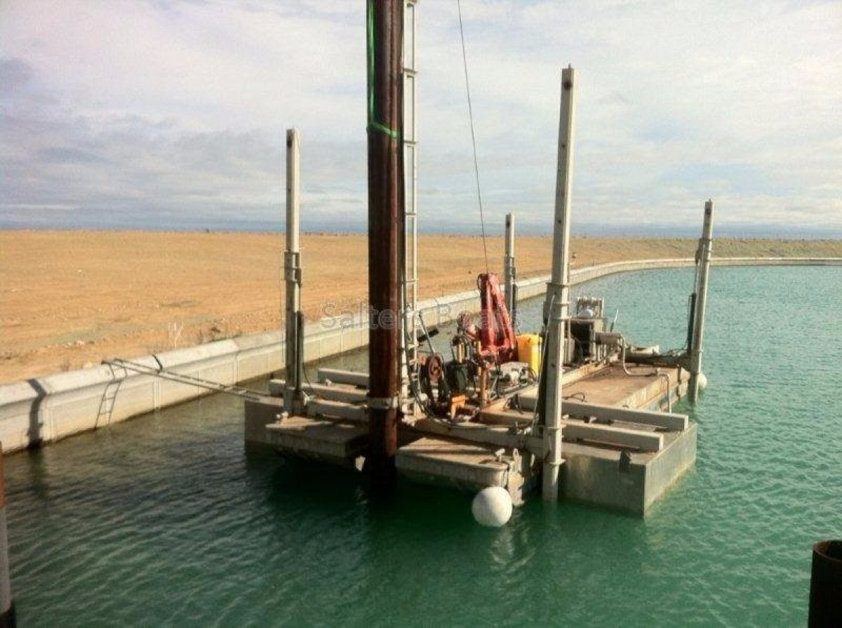 11m Self Powered Pile Driving Jack Up Barge