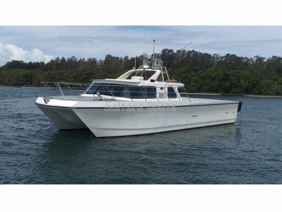 Custom 16m fibreglass catamaran commercial vessel boats for Catamaran fishing boats for sale