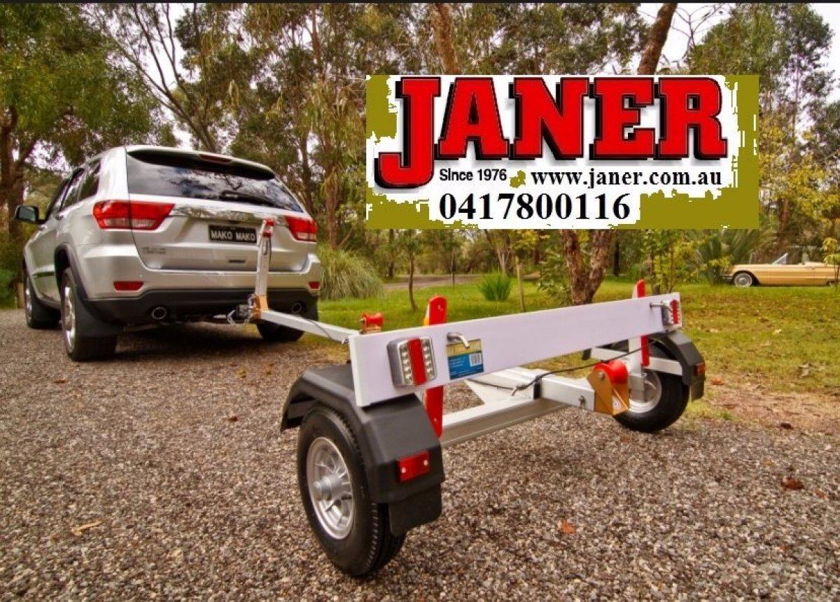 Mangrove jack Aluminium Fold Up Dinghy boat trailer:Mangrove jack fold up trailer