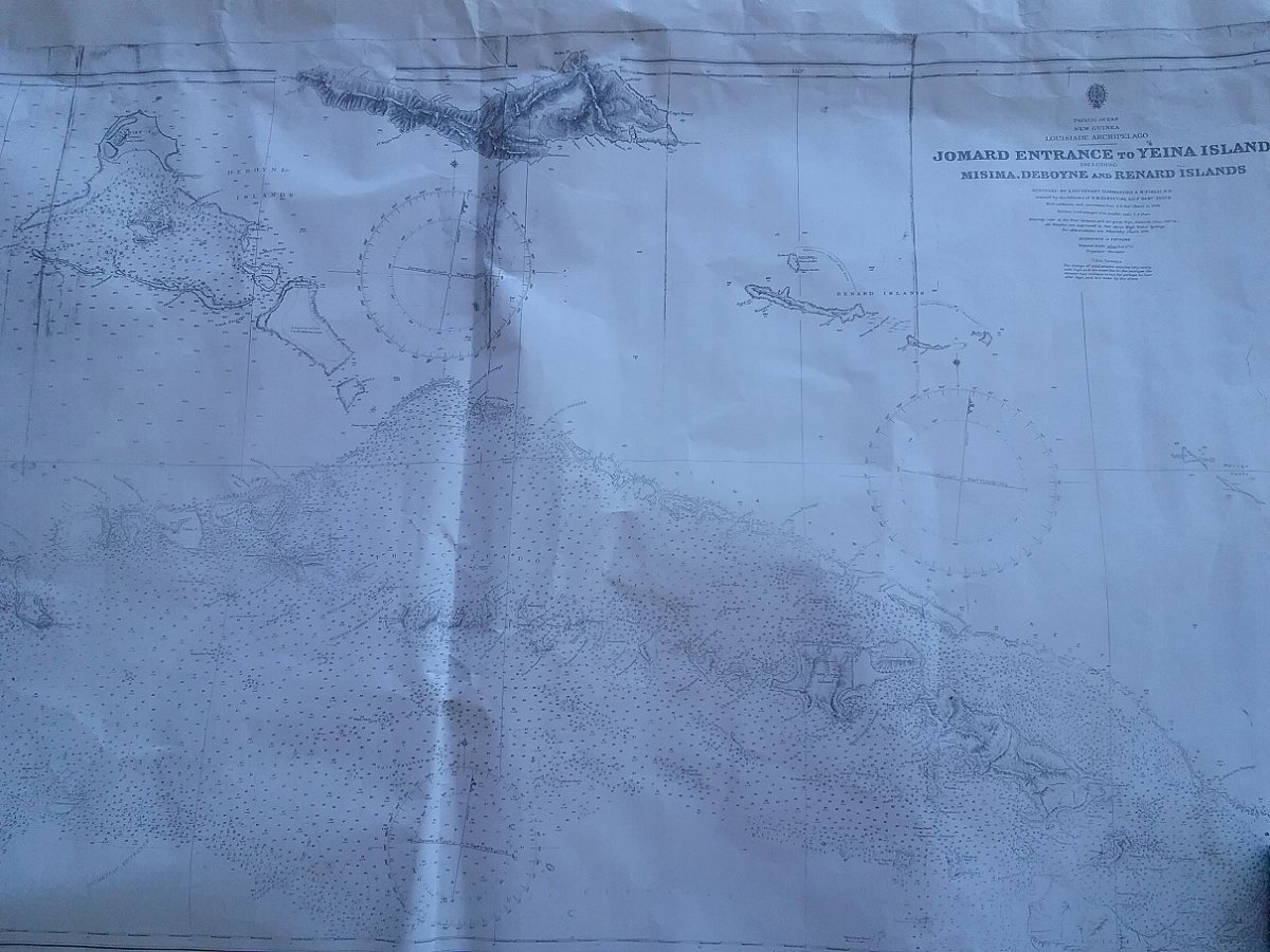 CHARTS PNG LOUSIADES, SOLOMANS:EXAMPLE OF MAPS
