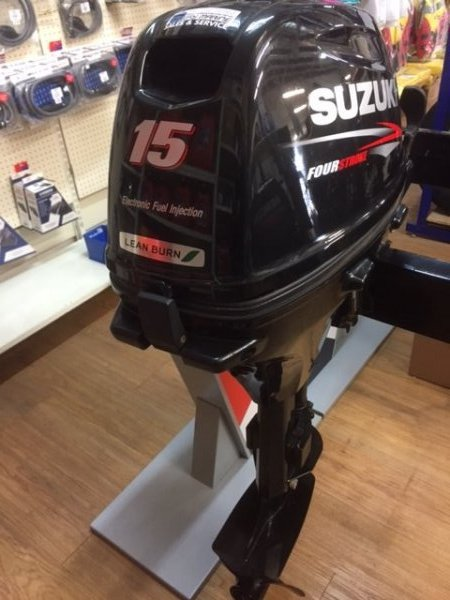 PRE OWNED 15HP SUZUKI OUTBOARD