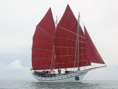 Modern Reproduction Traditional Junk Schooner