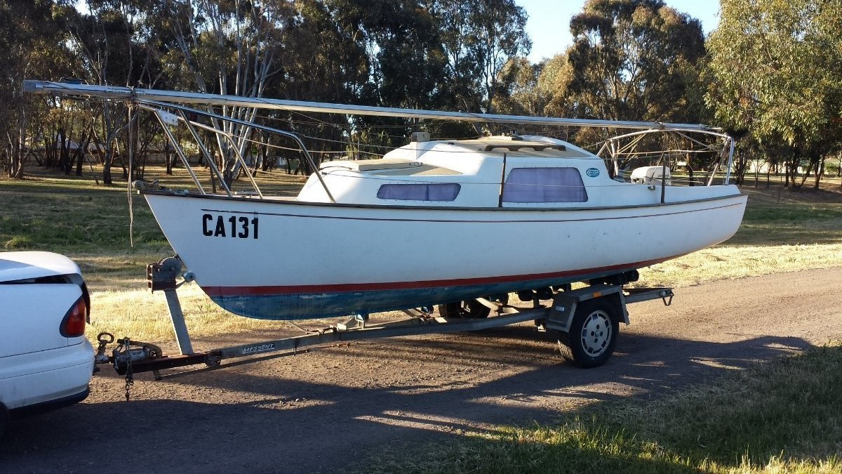 Careel 18 by Compass of Sydney - on Messant tilt trailer
