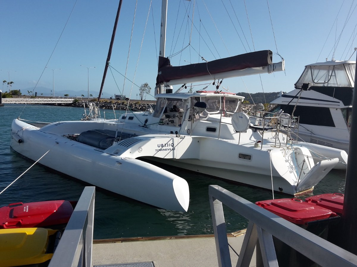 Hughes style modern designed and built trimaran