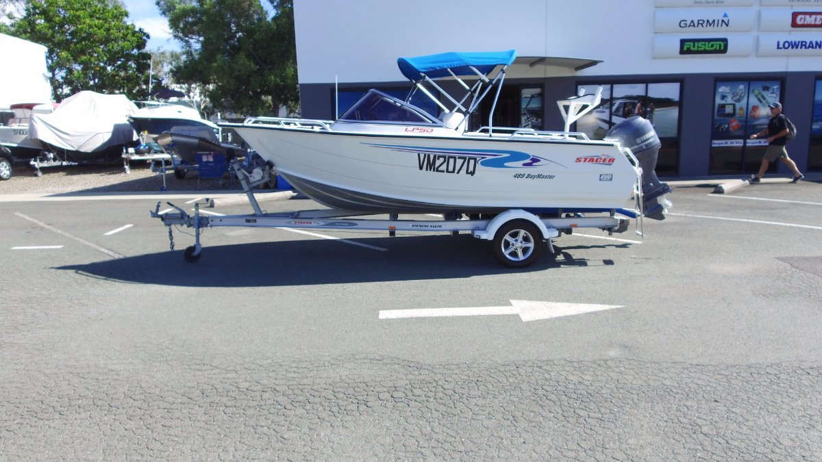 Stacer 489 Bay Master + Yamaha F60CETL 60hp Four Stroke Outboard Motor