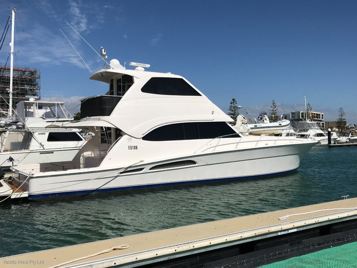"""Riviera 58 Flybridge ENCLOSED with SPEED TO PLEASE """"34 Knots"""":MIGHTY RIVIERA 58 With Hydraulic Swim platform and foredeck Tender and Davit"""
