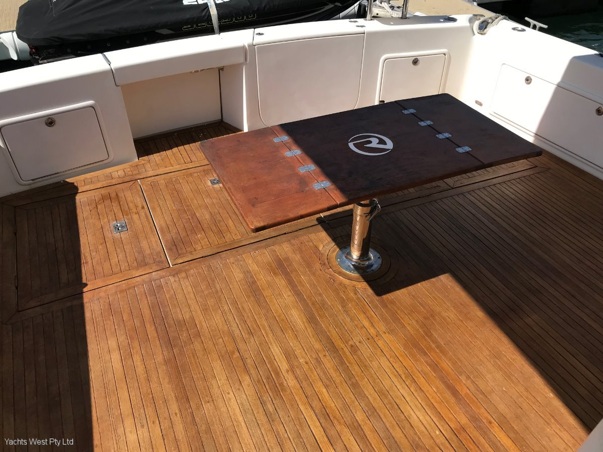 """Riviera 58 Flybridge ENCLOSED with SPEED TO PLEASE """"34 Knots"""":TEAKED COCKPIT with foldable and removable Table"""