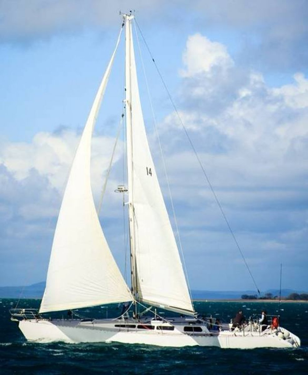 Adams Radford 55 Ocean cruiser:Rattle under sail