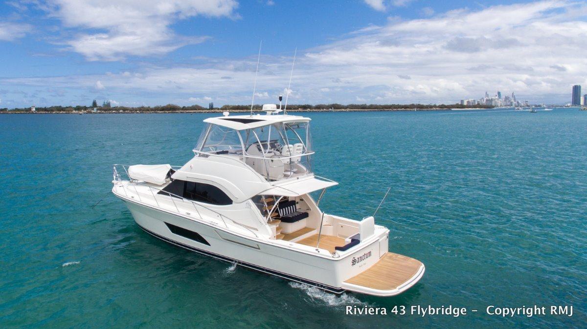 Riviera 43 Open Flybridge - NEAR NEW