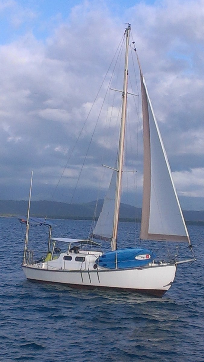 Maurice Griffiths Timber Sloop:Under sail
