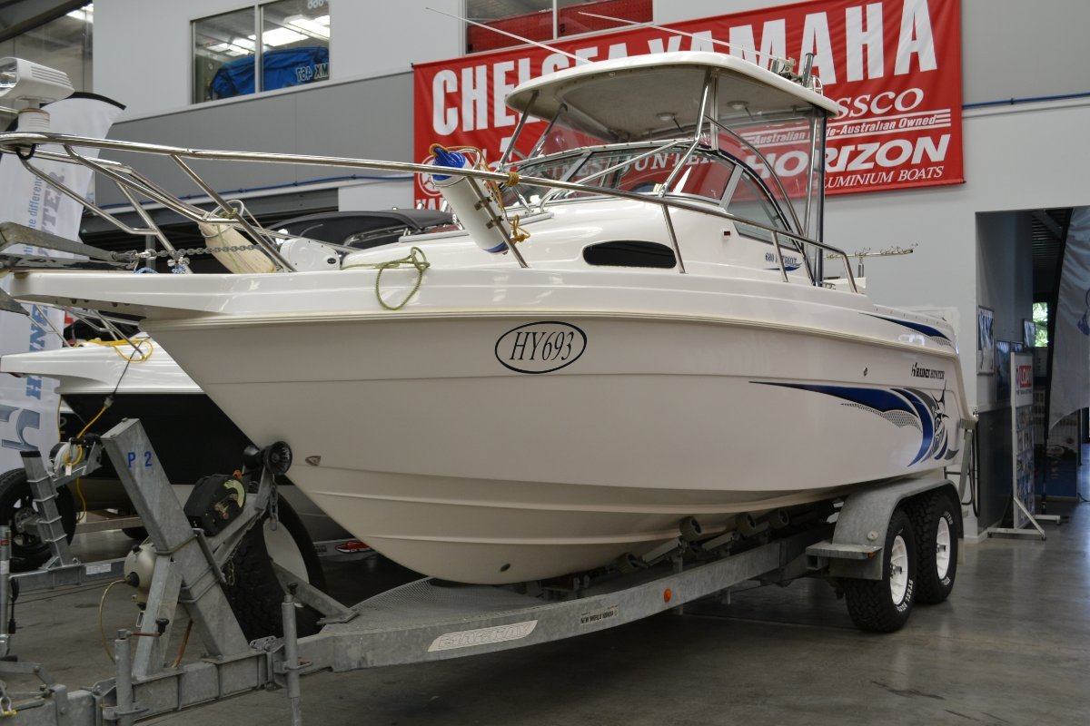 Haines Hunter 680 Patriot Hard Top powered with Twin 150 C/R Honda $90000.00