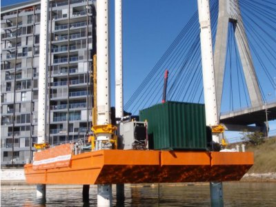 Sabrecraft Marine Barge Jack-Up 18.00 x 9.00m Sectional Road Transportable