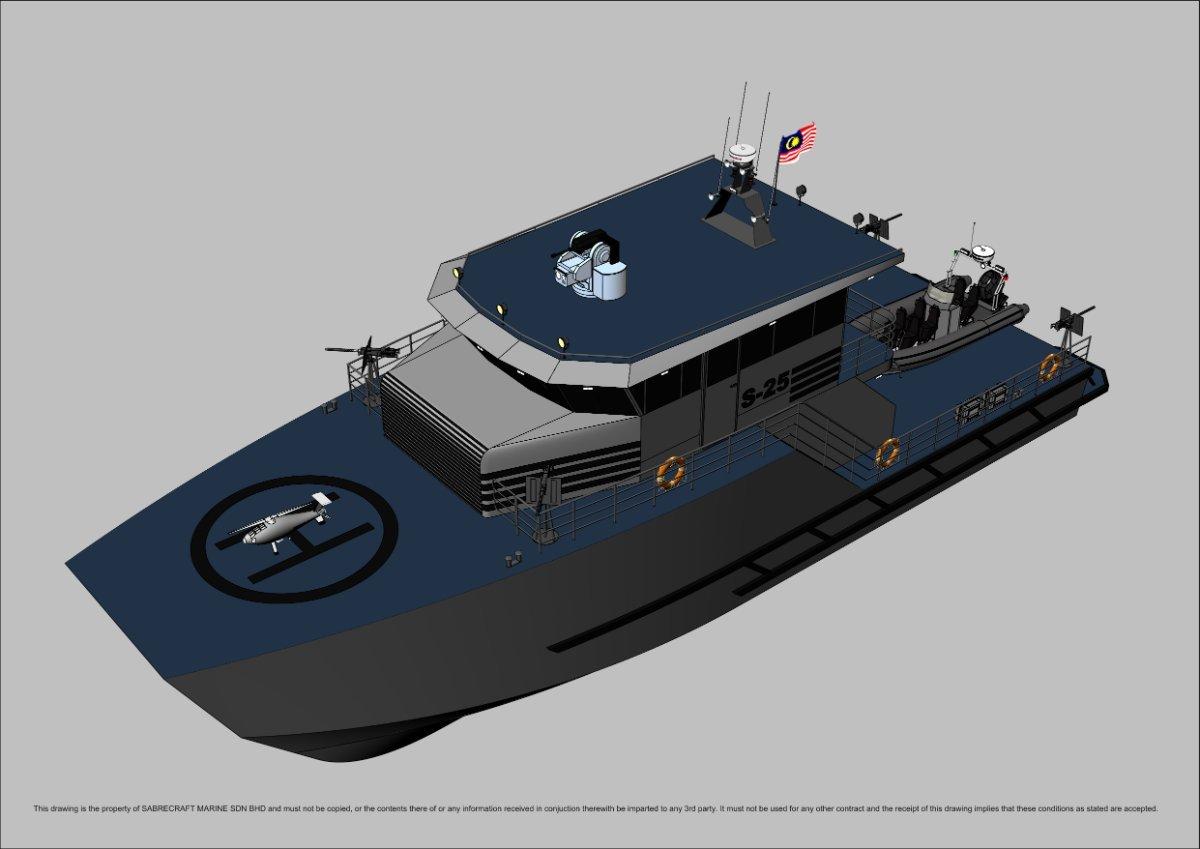 Sabrecraft Marine Patrol JetCat 25000 Gun Boat