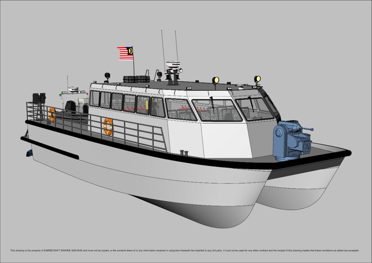 Sabrecraft Marine Patrol JetCat 18000 Gun Boat