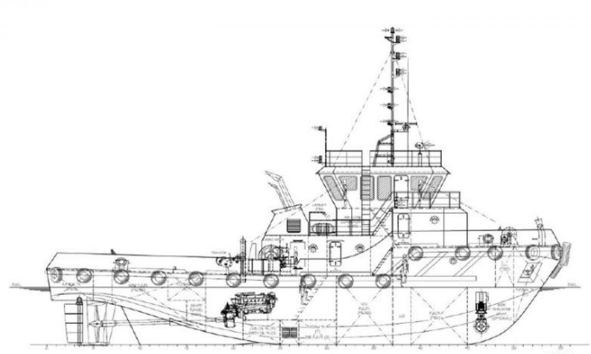 Sabrecraft Marine Tug Boat 35 Tonne Bollard Pull
