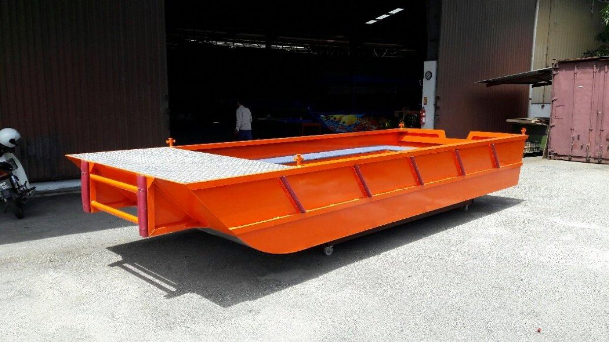 Sabrecraft Marine Work Punt 5800 Tiller Steering Work Boat