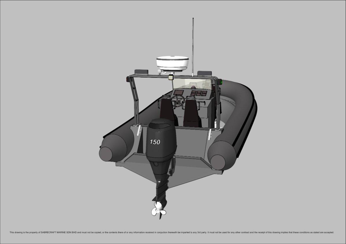 Sabrecraft Marine Patrol RHIB 6000 5 + 2