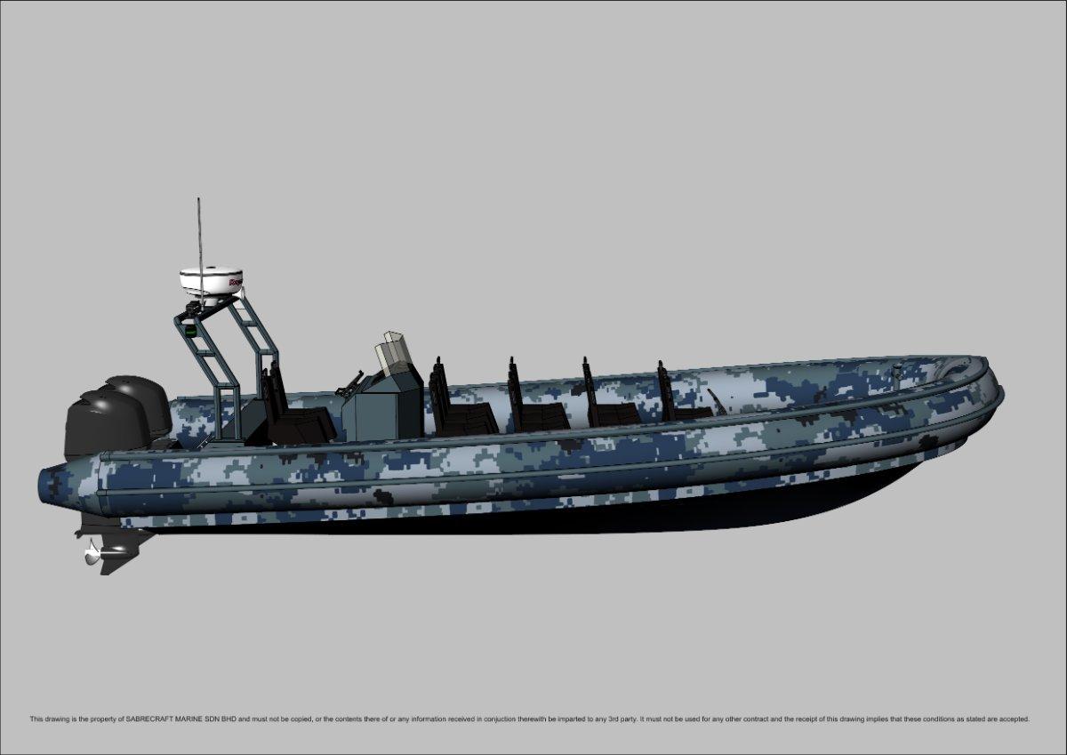 Sabrecraft Marine Patrol RHIB 9000 11 + 2