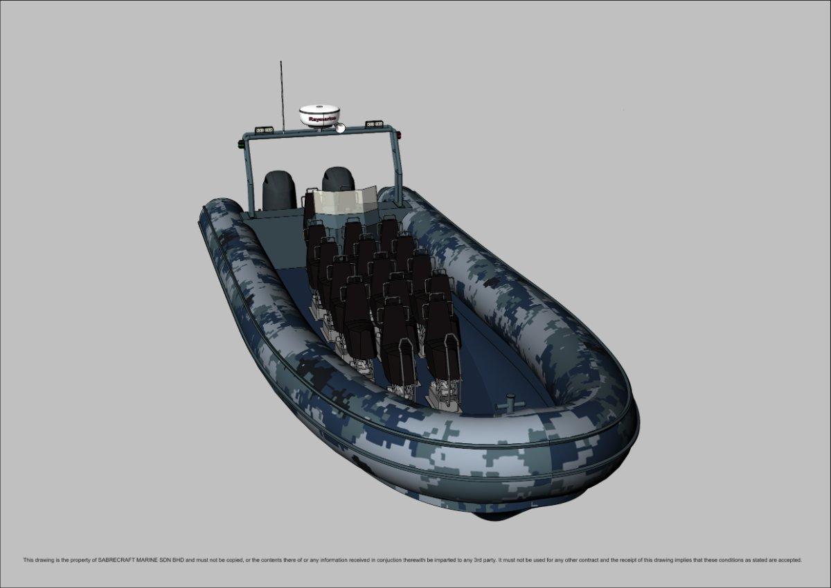 Sabrecraft Marine Patrol RHIB 11000 14 + 2