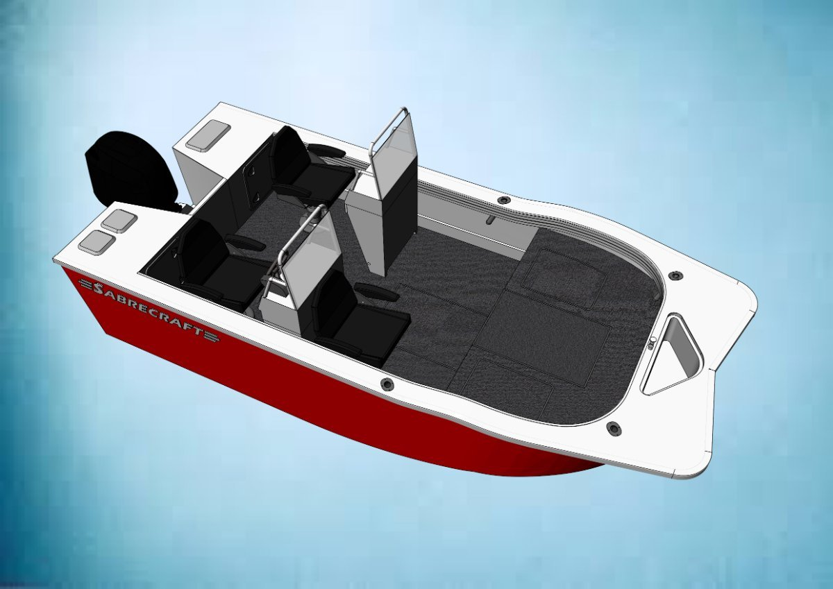 Sabrecraft Marine TriHull Side Console 5.00 meter NEW DESIGN