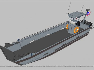 Sabrecraft Marine Landing Craft 9 Meter Work Boat Barge