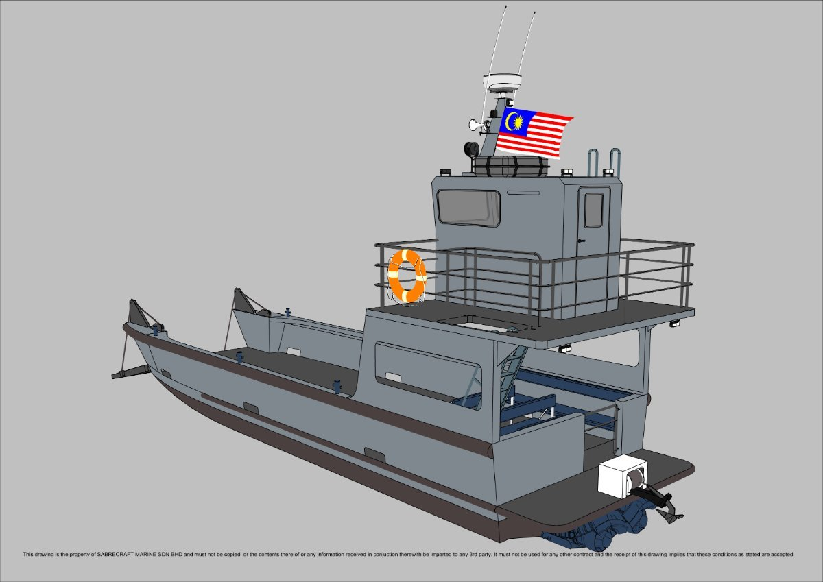 Sabrecraft Marine Landing Craft 12 Meter Work Boat Barge