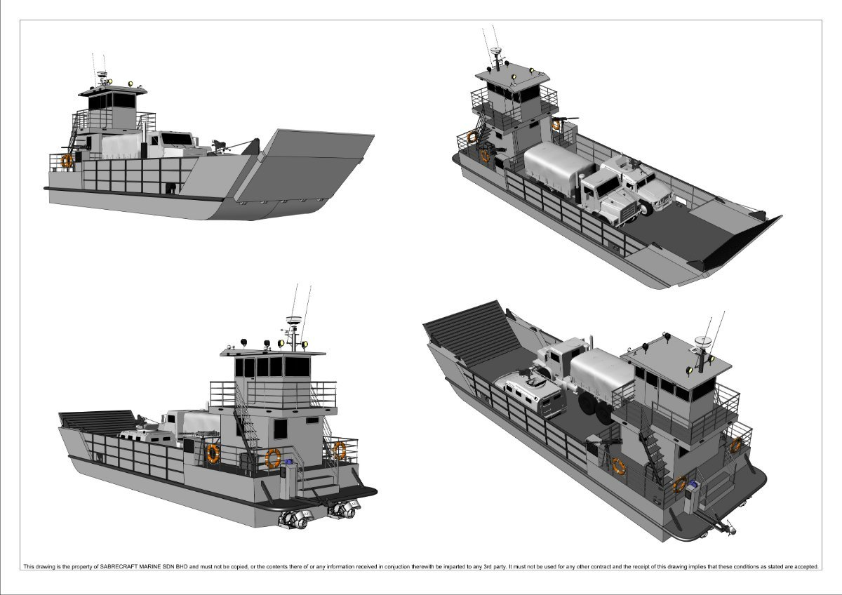 Sabrecraft Marine Landing Craft 18 Meter Work Boat Barge