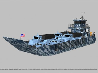 Sabrecraft Marine Landing Craft 24 Meter Work Boat Barge