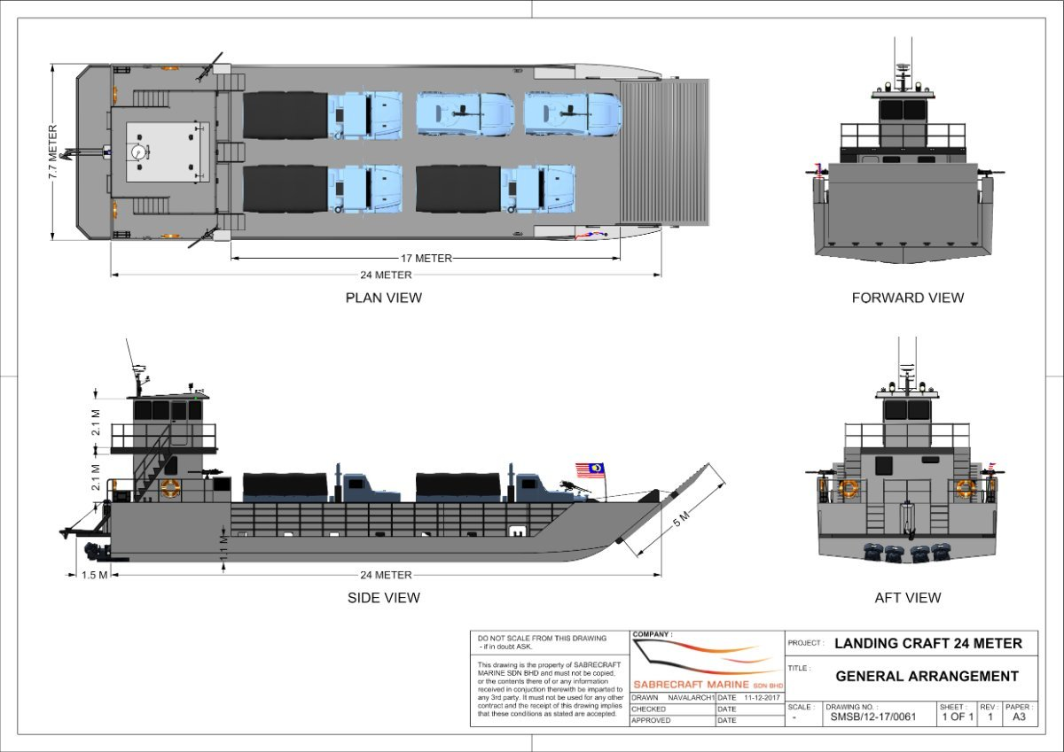 Sabrecraft Marine Landing Craft 24 Meter