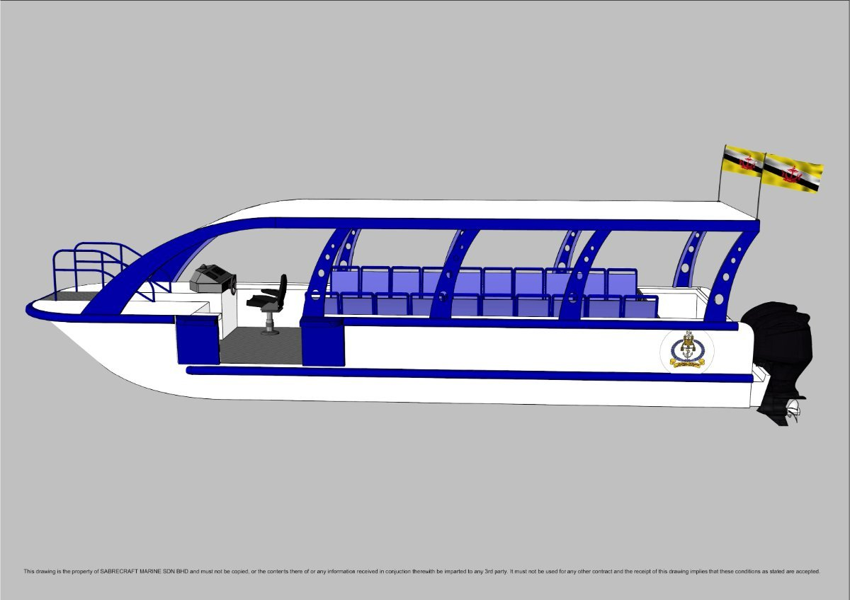 Sabrecraft Marine Ferry 11 Meter 20 to 36 Passengers