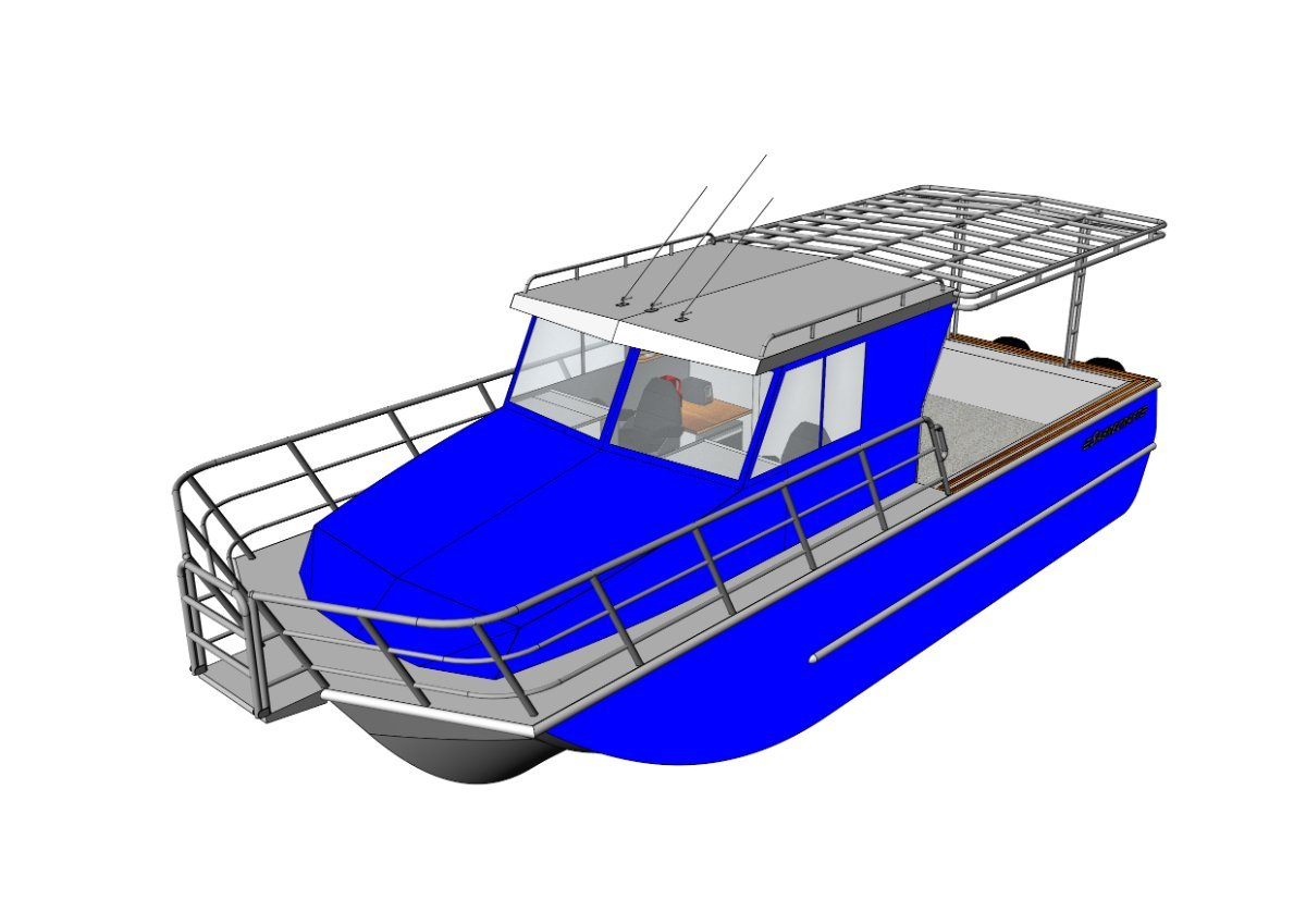Sabrecraft Marine Cabin AirRide 10000 Full Cabin Pro Fishing Boat