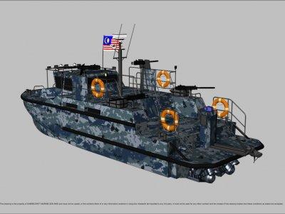 Sabrecraft Marine Patrol AirRide Xpress 12000 Gun Boat