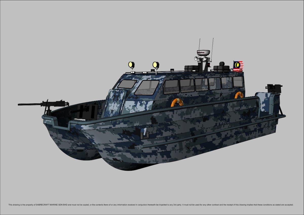 Sabrecraft Marine JetCat 12 Meter Patrol Gun Boat
