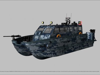Sabrecraft Marine Patrol JetCat 12000 Gun Boat