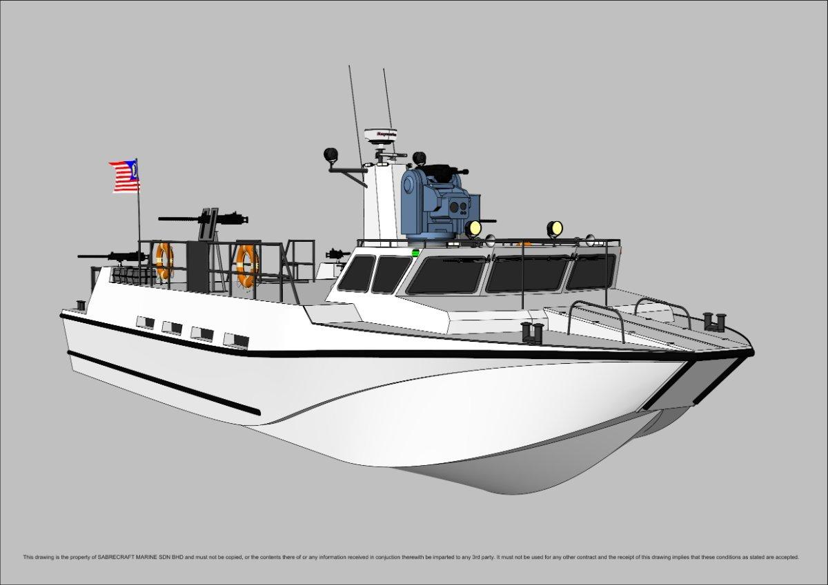 Sabrecraft Marine Patrol AirRide Xpress 18000 Gun Boat