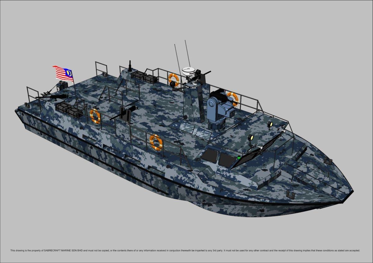 Sabrecraft Marine AIRIDE 18 Meter Patrol Gun Boat