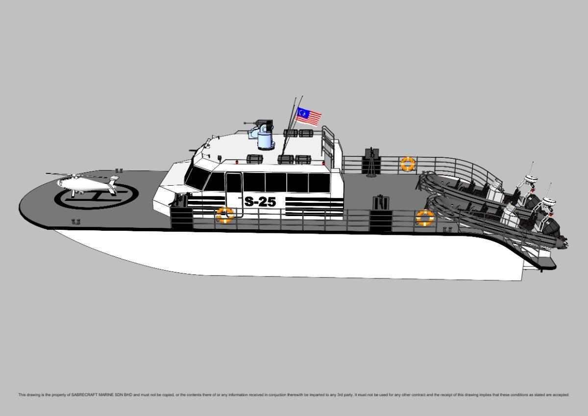 Sabrecraft Marine Patrol AirRide Xpress 25000 Gun Boat