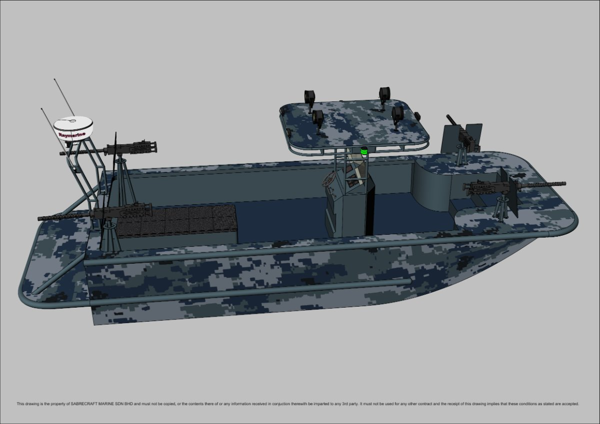 Sabrecraft Marine Patrol AirRide Xpress 8000 PBL Patrol Boat Light