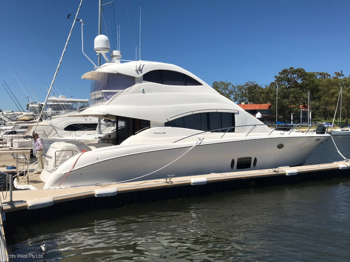 "Maritimo A55 Aegean Flybridge ""FULL BEAM MASTER CABIN "":MARITIMO A55 by YACHTS WEST Pty Ltd"