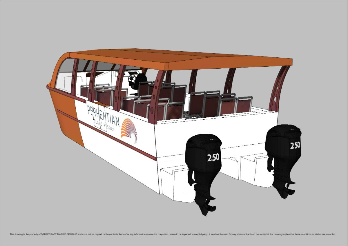 Sabrecraft Marine Shuttle Cat Ferry 10.50 Meter Open Cabin