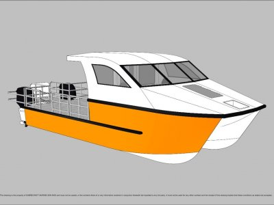 Sabrecraft Marine Work Boat 9000 CAT Half Cabin Wet Deck