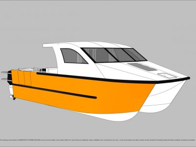 Sabrecraft Marine Work Boat 9000 CAT Half Cabin
