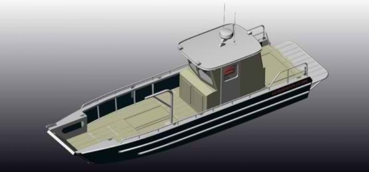 8.6m Landing Craft with Enclosed Wheelhouse